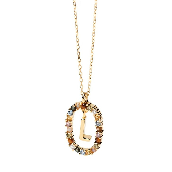 Kette, PDPAOLA, Necklace Letter L Yellow Gold