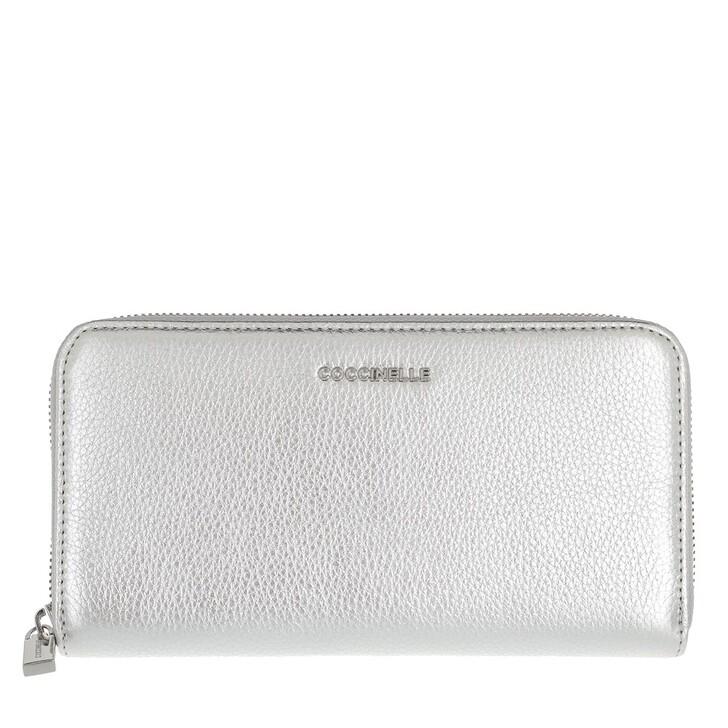 Geldbörse, Coccinelle, Metallic Soft Wallet Silver