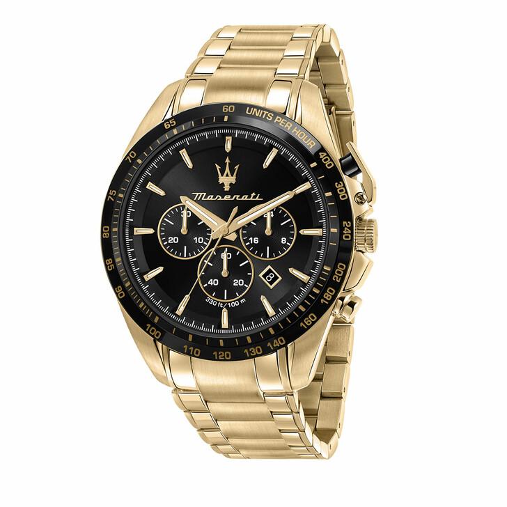 watches, Maserati, Watch Traguardo 45mm Black and Gold