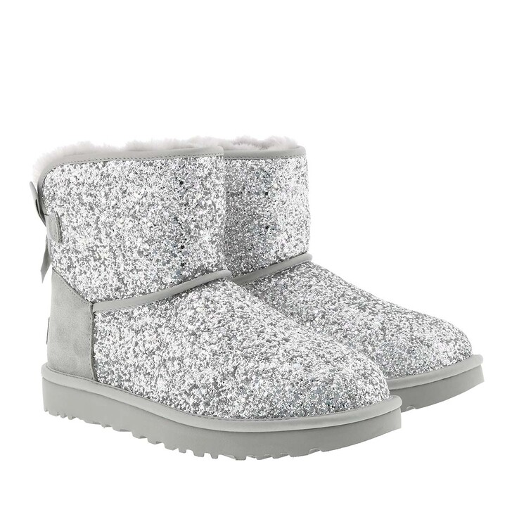 Schuh, UGG, Classic Boot Mini Bow Cosmos Silver