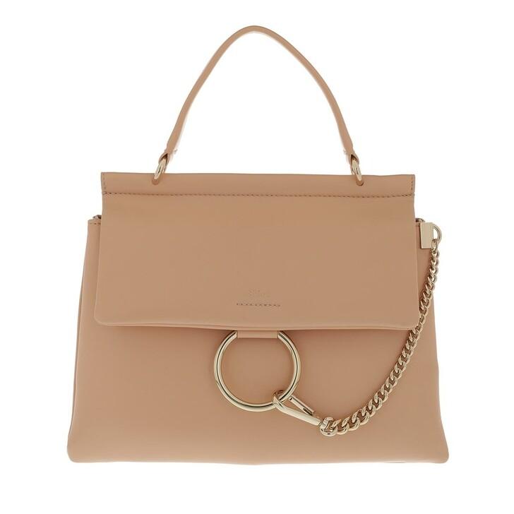 bags, Chloé, Faye Top Handle Bag Leather Sandy Beige