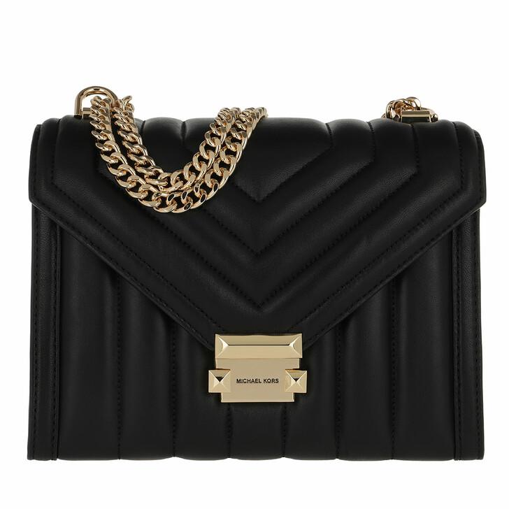 Handtasche, MICHAEL Michael Kors, Large Shoulder Handbag  Leather Black