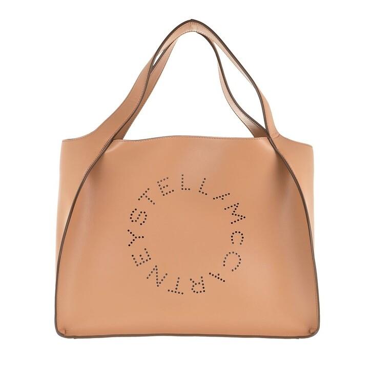 bags, Stella McCartney, Logo Tote Bag Leather Camel
