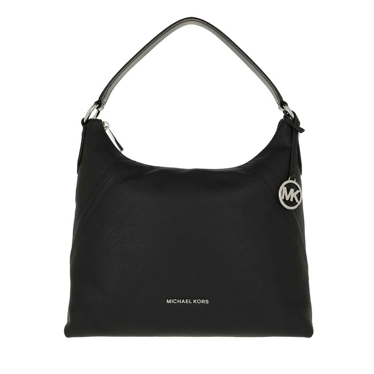 Handtasche, MICHAEL Michael Kors, Aria LG Shoulder Bag Black