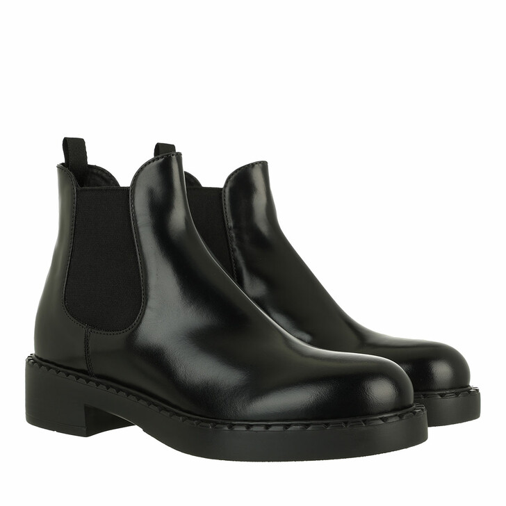 shoes, Prada, Boots Leather Black