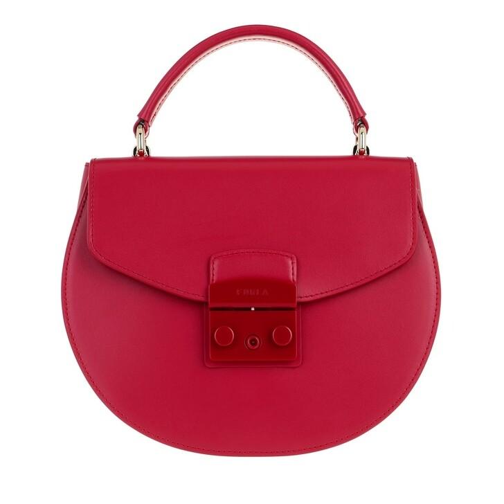 Handtasche, Furla, Metropolis Small Top Handle Round Ruby