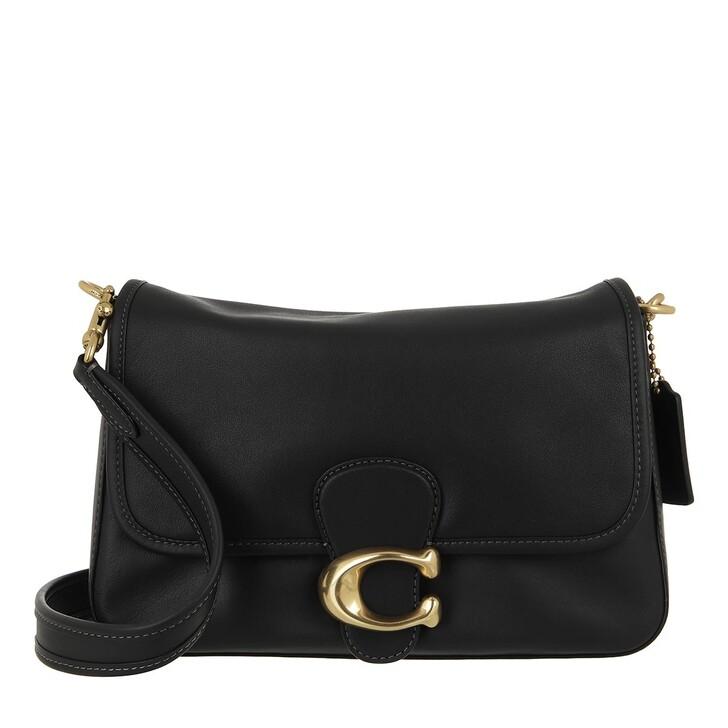bags, Coach, Soft Calf Leather Tabby Shoulder Bag Black