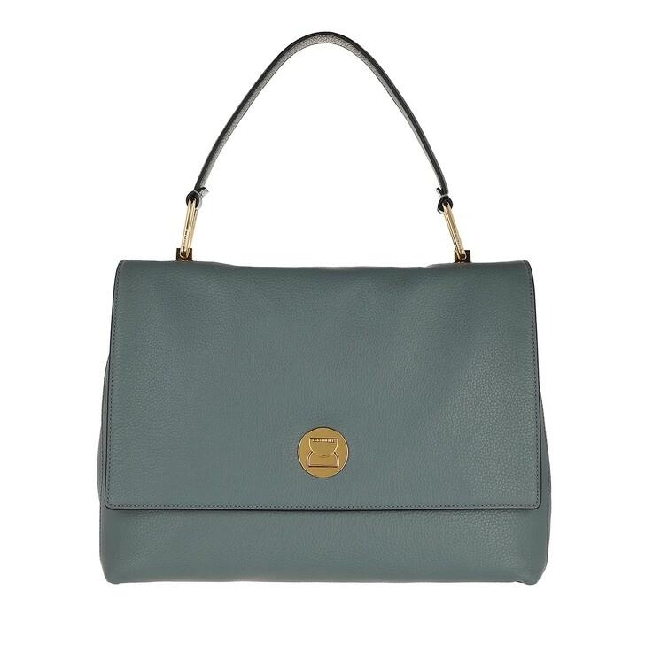 bags, Coccinelle, Liya Handbag Grainy Leather Shark Grey/Noir