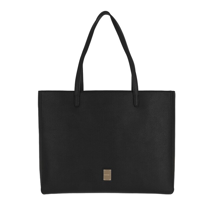 bags, Borbonese, Medium Shopping Bag E/W Black
