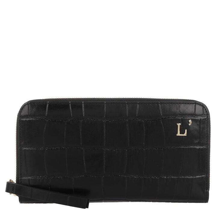 Geldbörse, L´Autre Chose, Zip Around Kokko Bag Black