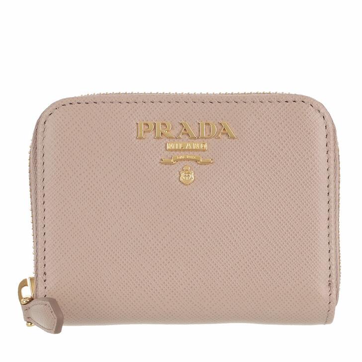 wallets, Prada, Wallet Zip Around Small Saffiano