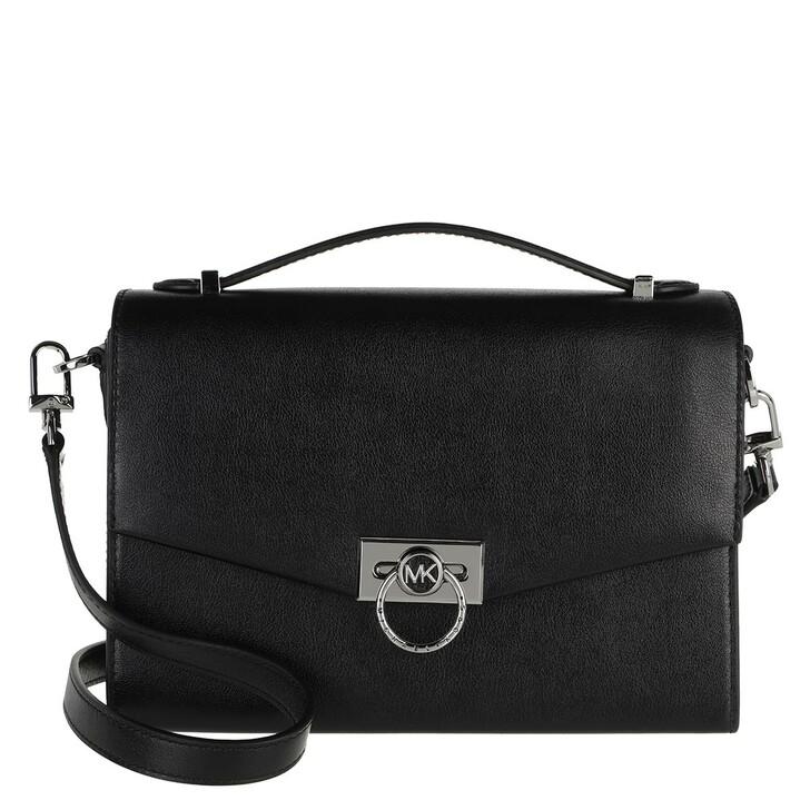 bags, MICHAEL Michael Kors, Hendrix Medium Messenger Bag Black