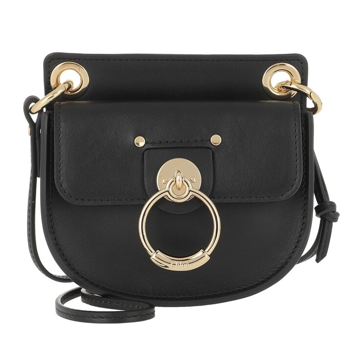Handtasche, Chloé, Tess Microbag Calf Leather Black