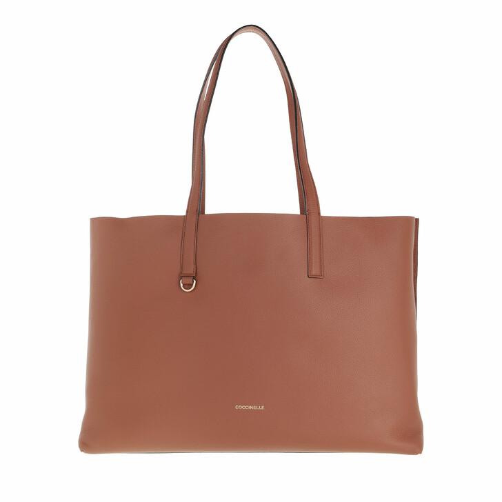bags, Coccinelle, Matinee Handbag Double Grainy Leather  Cinnamo/Chestnu