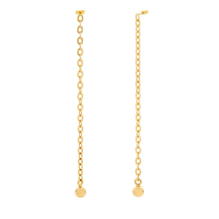 earrings, Saskia Diez, Earrings Barbelle Long Yellow Gold