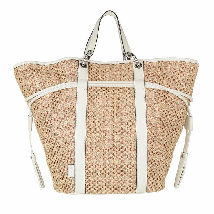 Handtasche, Lancel, Elsa St Tropez Raffia Tote Natural
