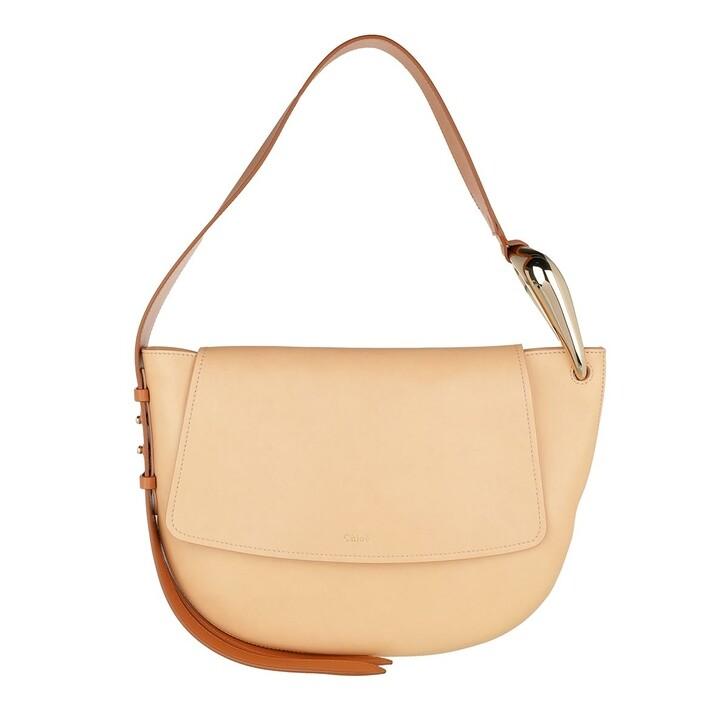 Handtasche, Chloé, Kiss Shoulder Bag Leather Sandy Beige