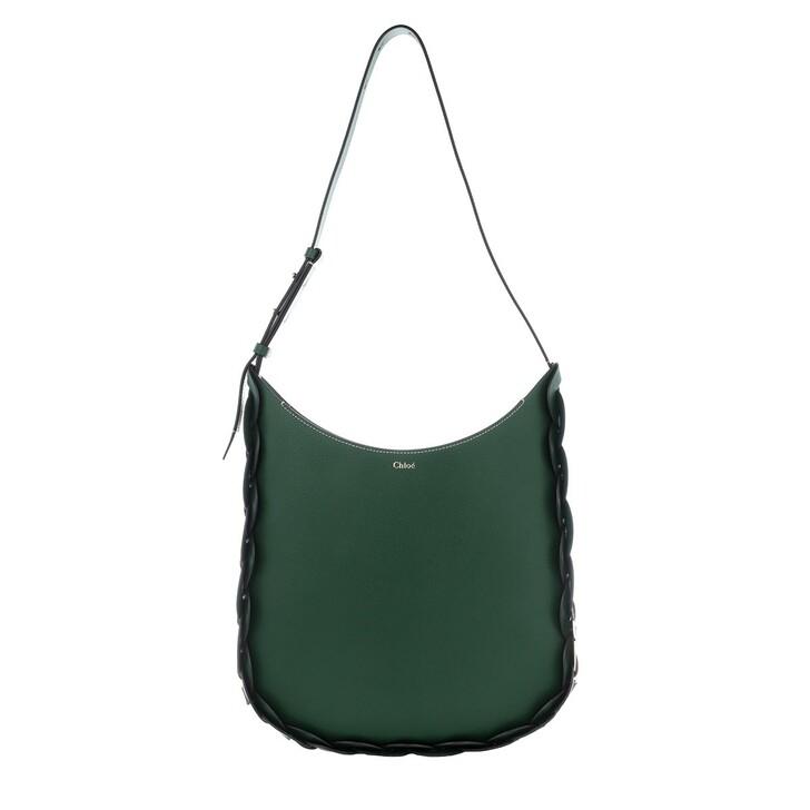 Handtasche, Chloé, Darryl Shoulder Bag Leather Rain Forest
