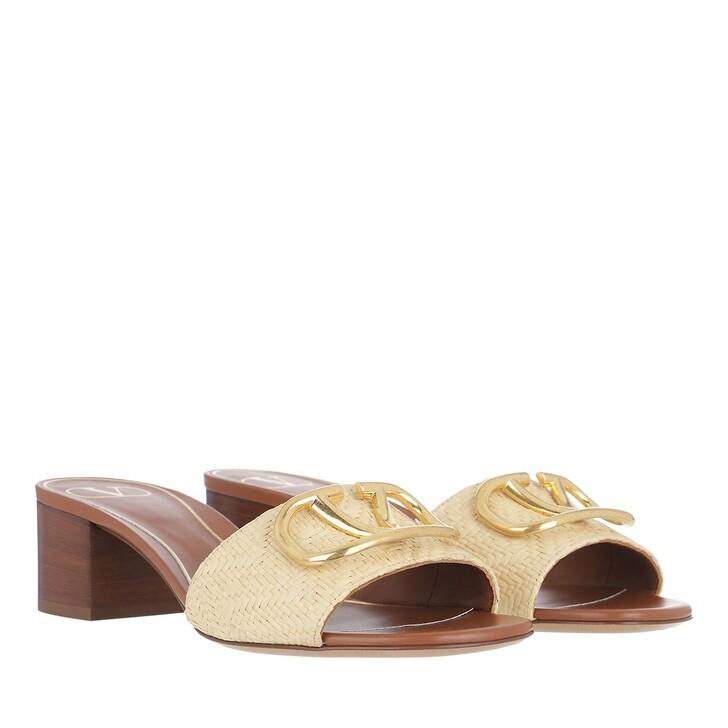 shoes, Valentino Garavani, Slide Sandals Natural