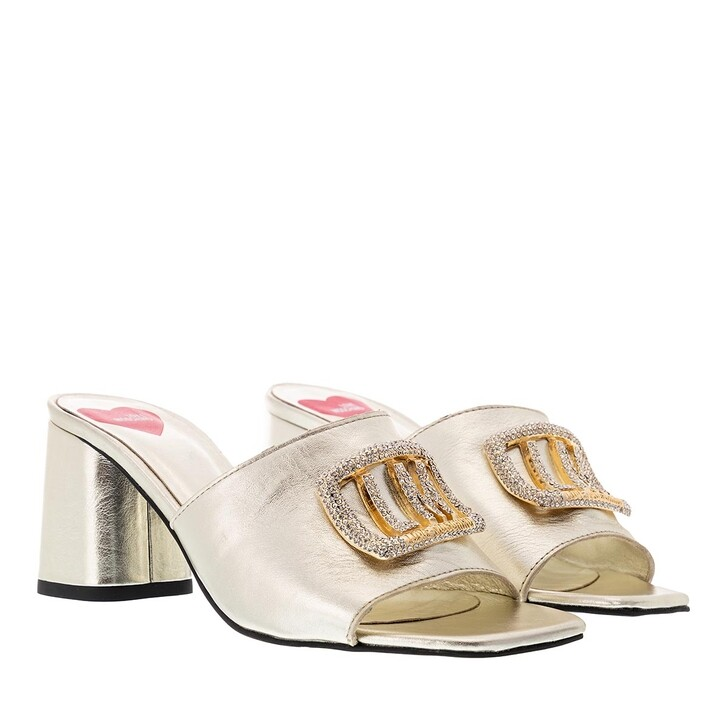 Schuh, Love Moschino, Mule Grosso75 Laminato  Platino