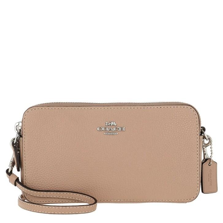 Handtasche, Coach, Polished Kira Crossbody Bag Leather Taupe