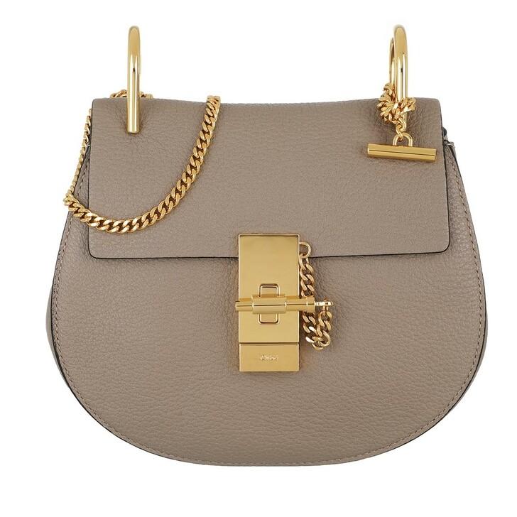 bags, Chloé, Drew Porte Epaule Mini Motty Grey
