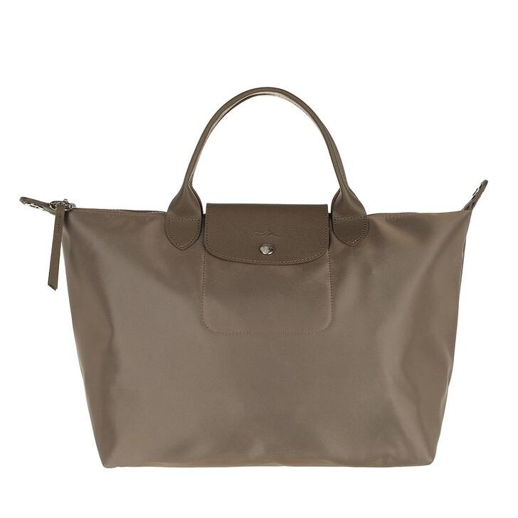 bags, Longchamp, Le Pliage Néo Handbag Taupe