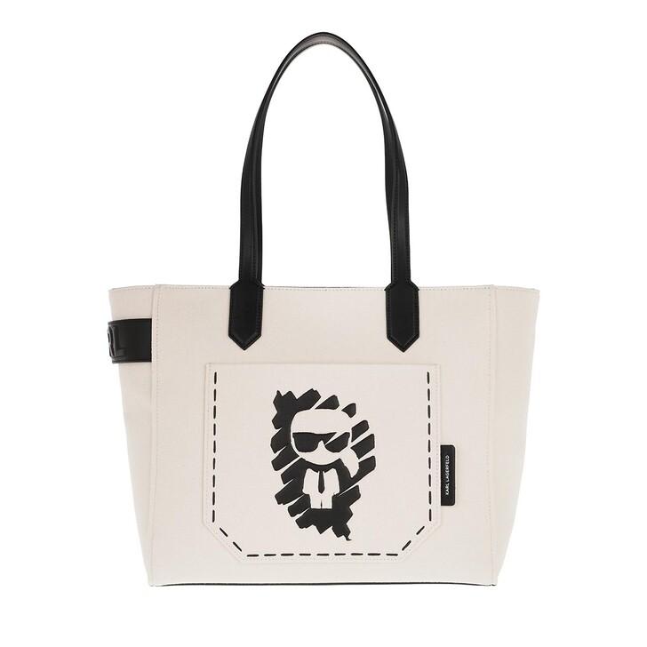 bags, Karl Lagerfeld, Ikonik Graffiti Tote Natural