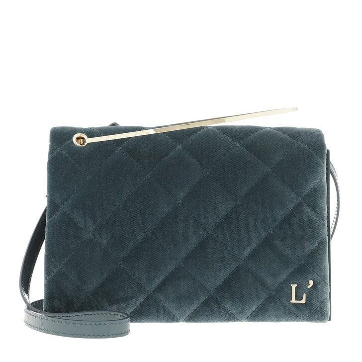 Handtasche, L´Autre Chose, Cross Body Velvet Patent Calf Dusty Blue