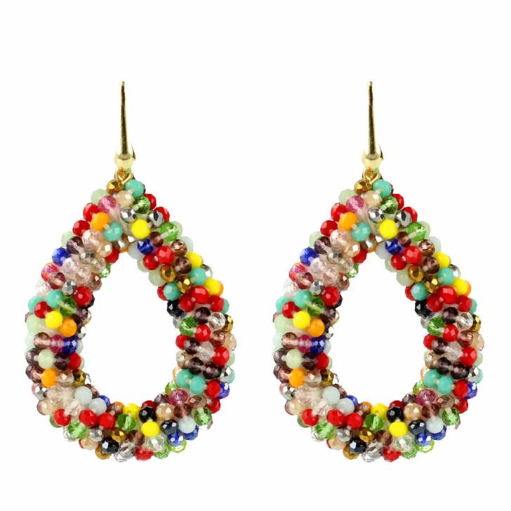Ohrring, LOTT.gioielli, Earring Glassberry Drop Large Multicolor Dark