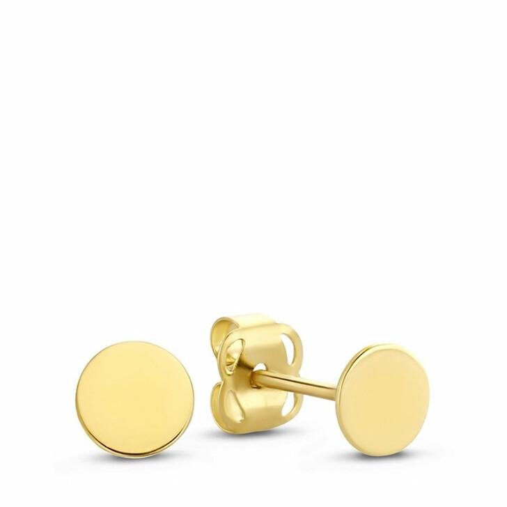 earrings, Isabel Bernard, Le Marais Jeanne 14 Karat Ear Studs With Coin