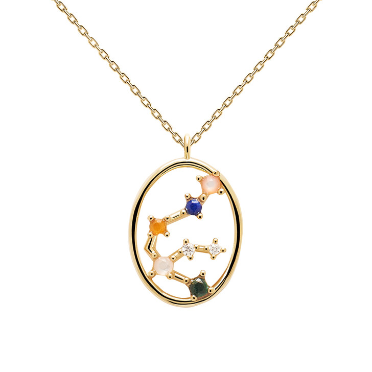 Kette, PDPAOLA, Necklace AQUARIUS Yellow Gold