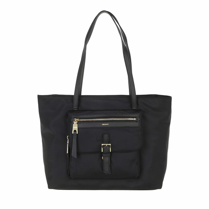 bags, DKNY, Cora Tote Black Gold