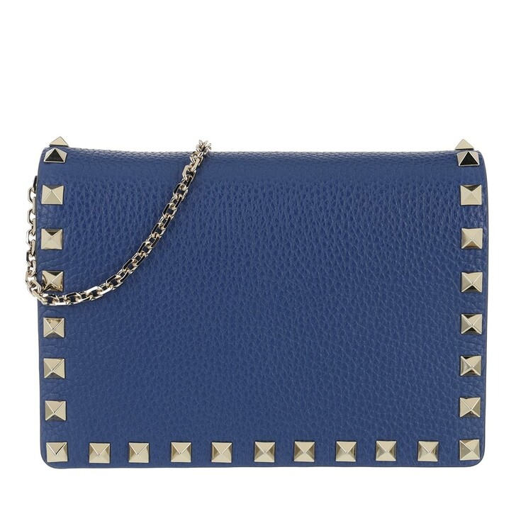 bags, Valentino Garavani, Rockstud Crossbody Bag Blu Delft