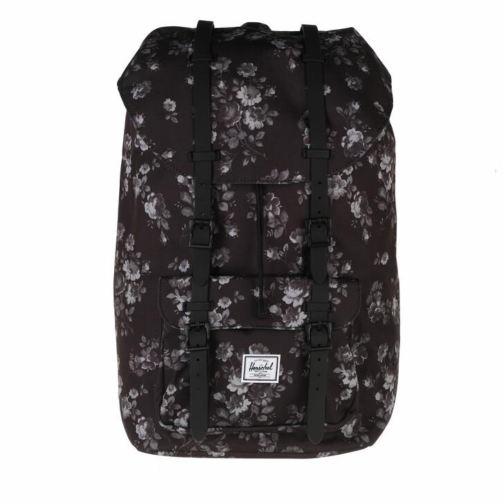 bags, Herschel, Herschel Little America Backpacks Fall Floral/Black