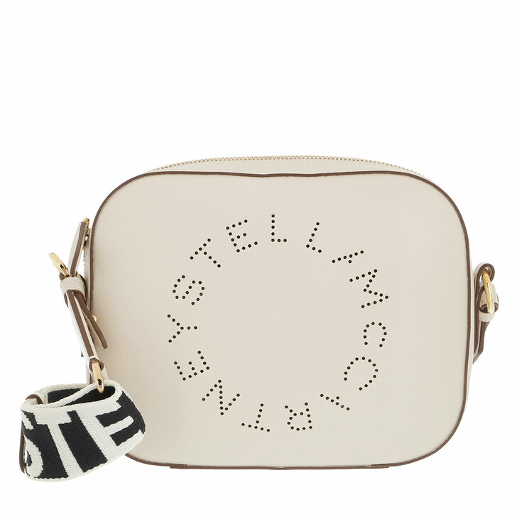 bags, Stella McCartney, Small Logo Crossbody Bag White