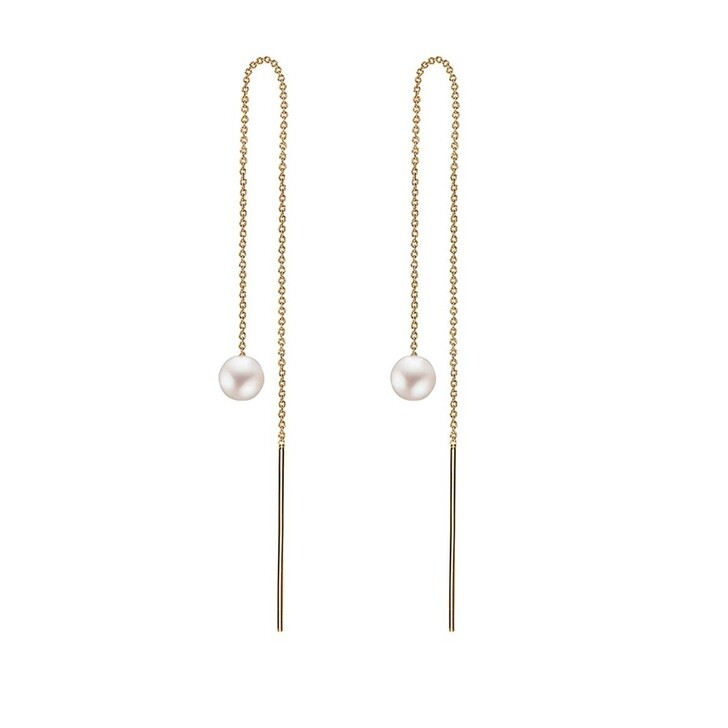 Ohrring, Charlotte Lebeck, Pearl Earrings Yellow Gold