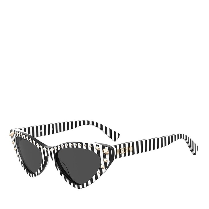 Sonnenbrille, Moschino, MOS093/S STRIPED BLACK WHITE