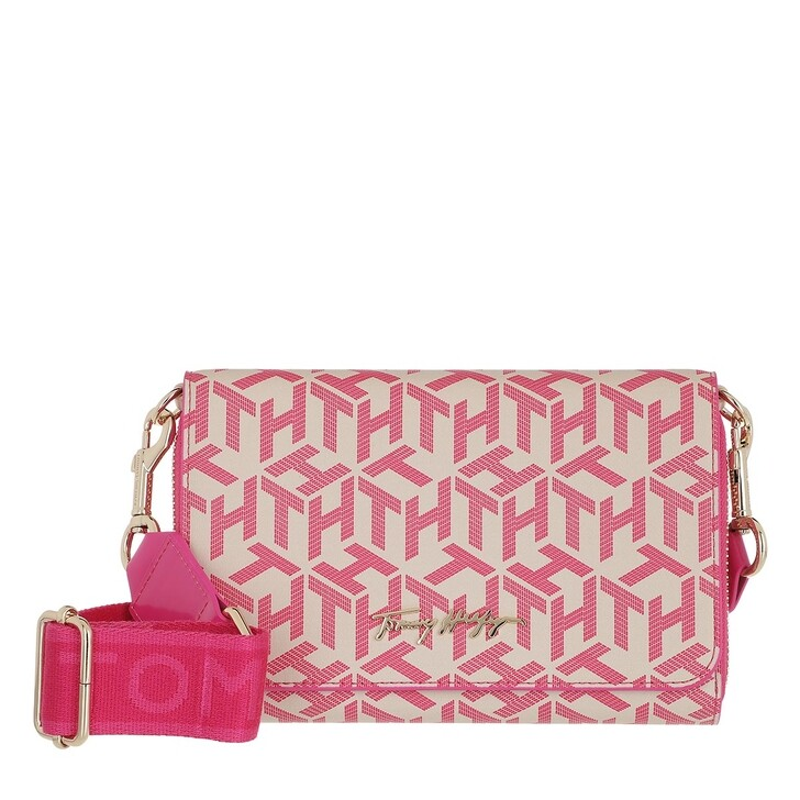 bags, Tommy Hilfiger, Iconic Tommy Crossover Mono Hot Magenta