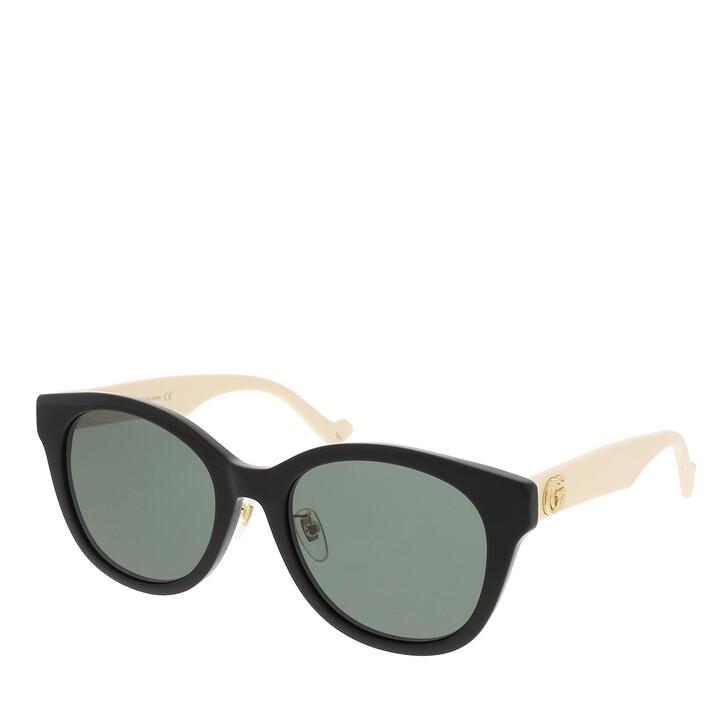 sunglasses, Gucci, GG1002SK-004 56 Sunglass Woman Acetate Black-White-Grey