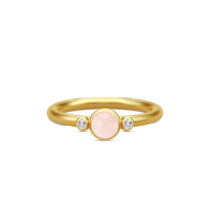 rings, Julie Sandlau, Little Prime Ring Gold/Milky Rose
