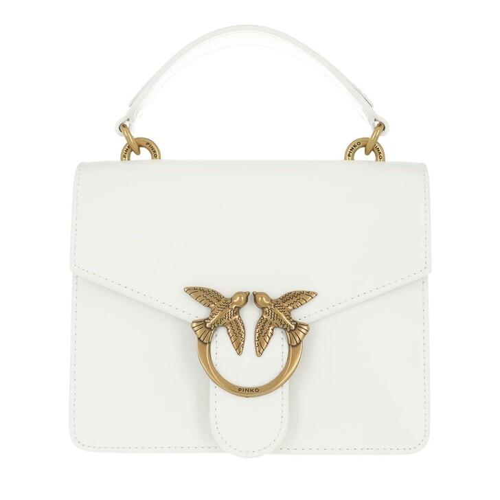Handtasche, Pinko, Love Mini Top Handle Simply  White