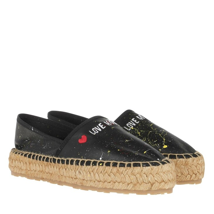 Schuh, Love Moschino, Espadrilles Nappa St. Pollock Nero