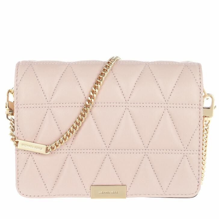 Handtasche, MICHAEL Michael Kors, Jade Medium Gusset Clutch Soft Pink