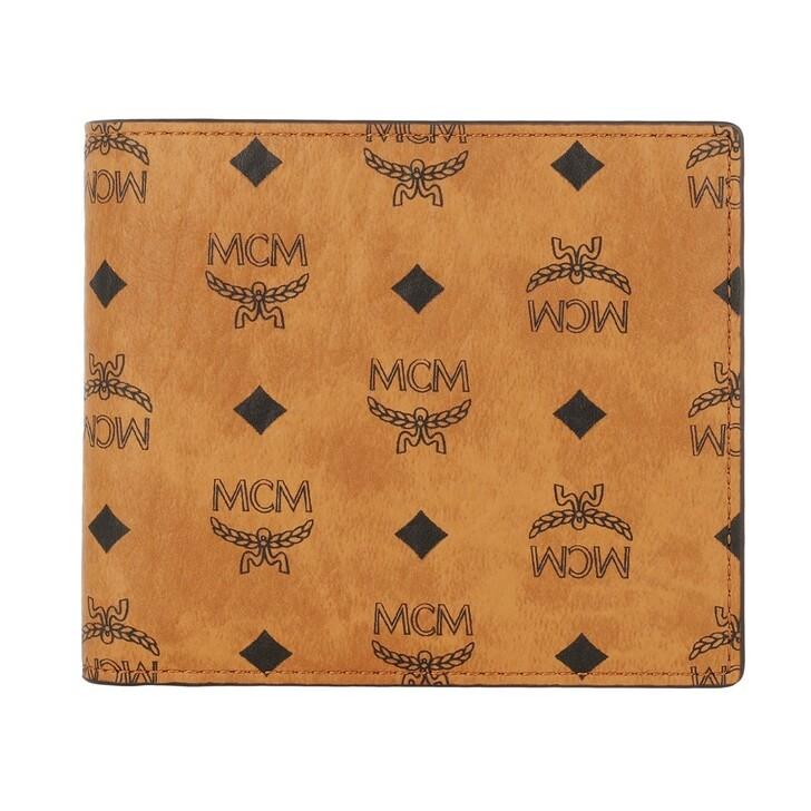 wallets, MCM, Visetos Or M-F12-1 Small Wallet, Coin Pkt u Cognac