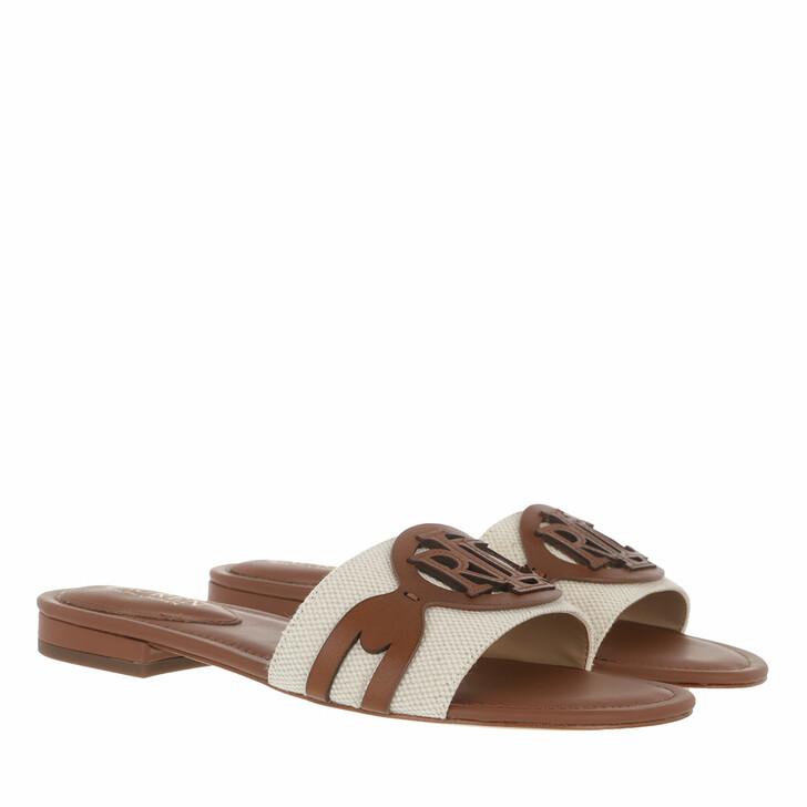 Schuh, Lauren Ralph Lauren, Alegra Sandals Slide Natural/Deep Saddle Tan