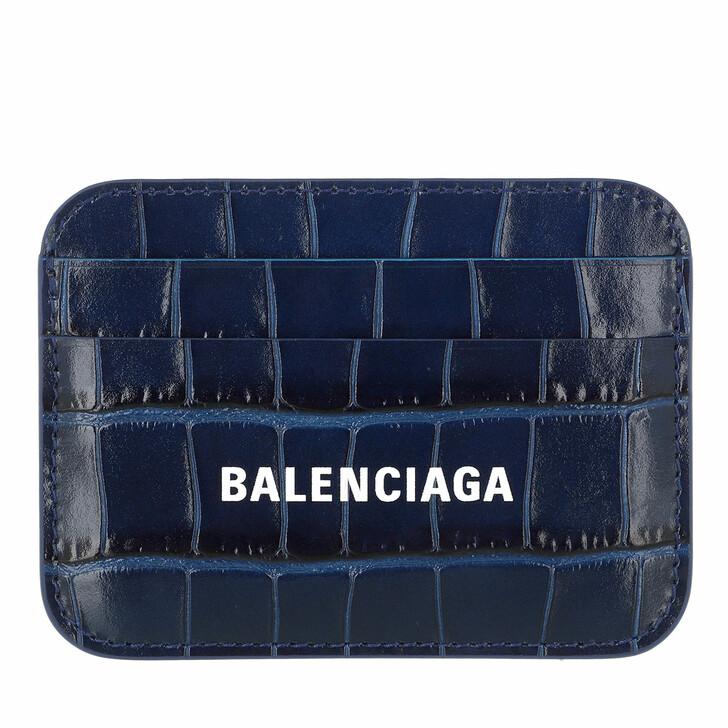 Geldbörse, Balenciaga, Logo Card Holder Blue