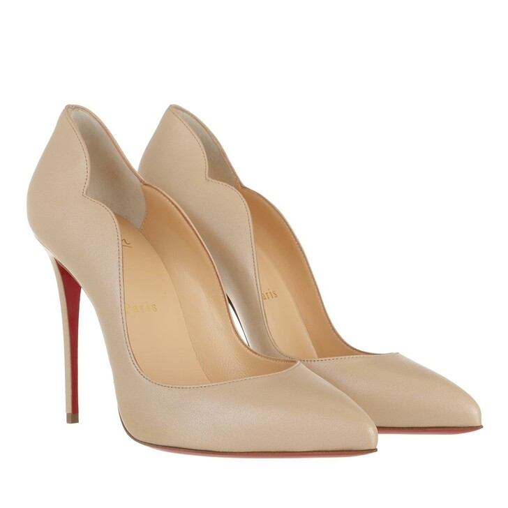 Schuh, Christian Louboutin, Hot Chick 100MM Heels Nappa Calfskin Leather Nougat Brown