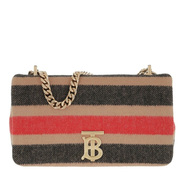 Handtasche, Burberry, Lola Striped Crossbody Bag Wool Light Camel