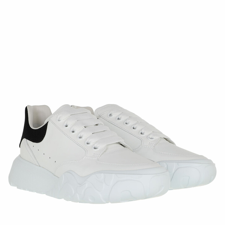 shoes, Alexander McQueen, Court Trainer Calf Leather White/Black